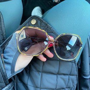 Oversized Coach sunglasses